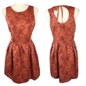 The limited floral rust orange tapestry dress 2